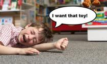 Crying for toy