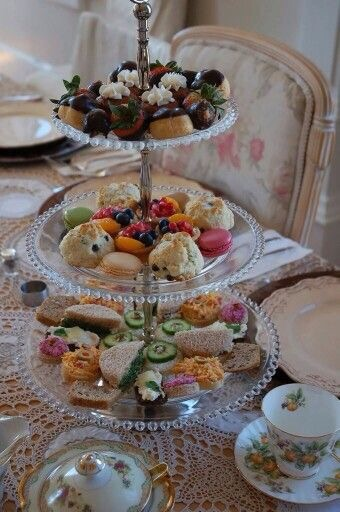 high tea at Laura's tea room